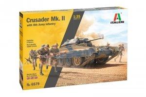 Italeri 6579 Crusader II w/ 8th Army Infantry 1/35