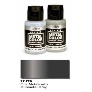 Vallejo 77720 Metal Color- Gunmetal Grey 32ml