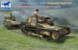 Bronco CB35216 Hungarian Tankette 35M Ansaldo Carro Veloce L3/35 Italian Tankette (with Twin 34/37MGebauer MG) 1/35