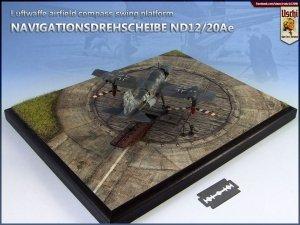 Uschi 3047 Display diorama Luftwaffe Compass Swing Ramp circular 1/48