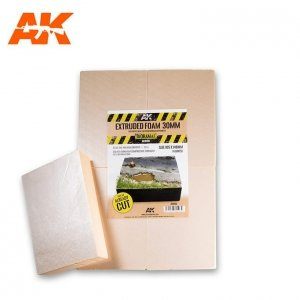 AK Interactive AK 8100 EXTRUDED FOAM 30MM SIZE A4 ALREADY CUT (pianka do budowy)