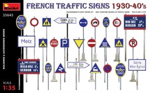 Miniart 35645 FRENCH TRAFFIC SIGNS 1930-40's 1/35