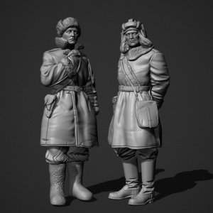 Panzer Art FI35-130 Soviet tank officers in sheepskin coat set 1/35