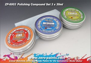 Zero Paints ZP-6003 Polishing Compound Set (3 Grades+Cloth)