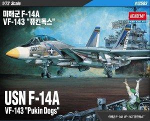 Academy 12563 USN F-14A VF-143 Pukin Dogs 1/72