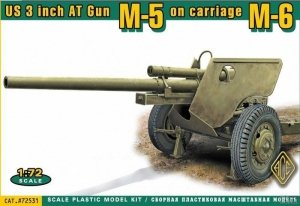 ACE 72531 US 3 inch AT Gun M5 on carriage M6 (later version) 1:72