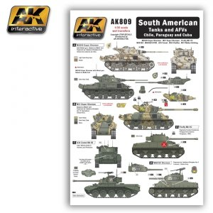 AK Interactive AK 809 SOUTH AMERICAN Tanks and AFVs Chile, Paraguay and Cuba
