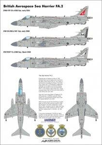 HobbyDecal AL48011V1 Sea Harrier FA.2 1/48