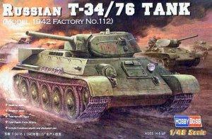 Hobby Boss 84806 Russian T-34/76 (1942 No.112) (1:48)