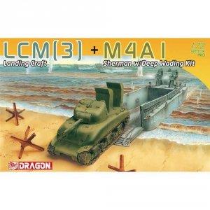 Dragon 7516 LCM(3) + M4A1 Sherman w/Deep Wading Kit 1/72