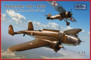IBG 72528 September Sky 1939: PZL P.11a & PZL.37B Łoś (2in1) 1/72