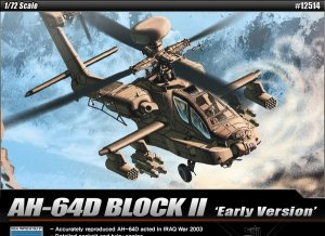 Academy 12514 AH-64D BLOCK II Early Version 1/72
