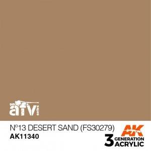 AK-Interactive AK 11340 Nº13 Desert Sand (FS30279) 17ml