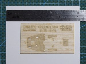 Wood Hunter W35074 HMS ANCHUSA wooden deck for MIRAGE 350801 1/350