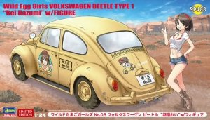 "Hasegawa SP488 Wild Egg Girls No.03 Volkswagen Beetle Type 1 ""Rei Hazumi"" w/Figure 1/24"