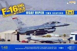 Kinetic K48005 F-16D Block 50 - USAF Viper 2 seaters 1/48