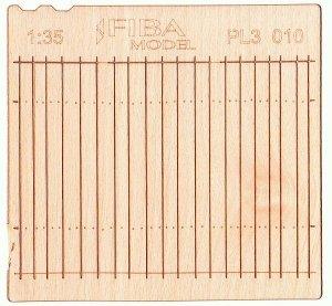 Model scene PL3-010 Wooden fence type 10 Drewniany płot 1/35