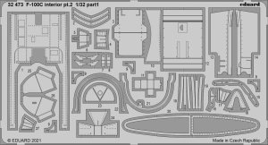 Eduard 32473 F-100C interior pt.2 TRUMPETER 1/32