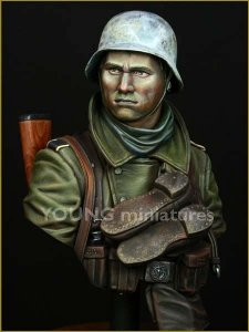 Young Miniatures YM1825 German Infantry Russian Front WWII 1/10