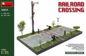 Miniart 36059 Railroad crossing (European Gauge Railway tracks) 1/35