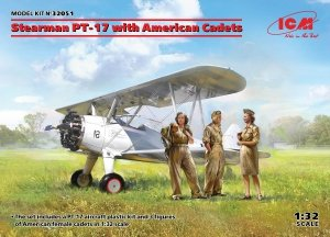 ICM 32051 Stearman PT-17 with American Cadets 1/32