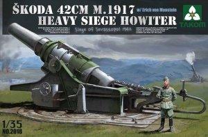 Takom 2018 SKODA 42CM M.1917 HEAVY SIEGE HOWITZER