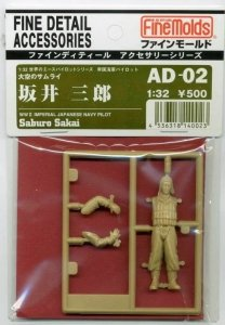 Fine Molds AD02 Saburo Sakai, WWII Imperial Japanese Navy Pilot 1/32
