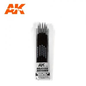 AK Interactive AK 9086 SILICONE BRUSHES MEDIUM TIP MEDIUM 5 pcs