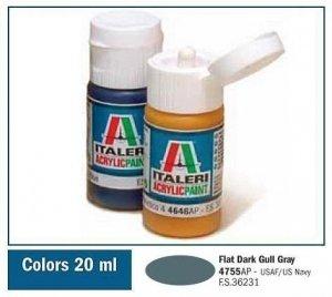 Italeri 4755 FLAT DARK GULL GRAY 20ml