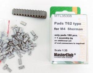 MasterClub MTL-35308 Pads T62 type for M4 Sherman 1:35