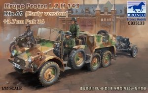 Bronco CB35133 Krupp Protze L2 H 143 Kfz.69 (early version) with 3.7cm Pak 36 (1:35)