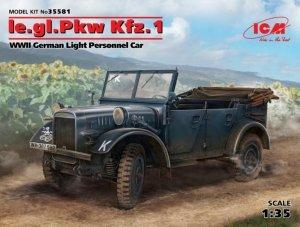 ICM 35581 le.gl.Einheits-Pkw Kfz.1, WWII German Light Personnel Car 1/35