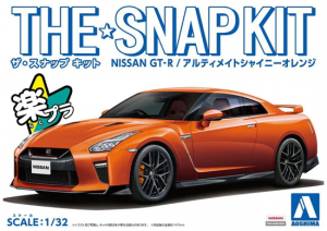 Aoshima 05638 The Snap Kit Nissan GT-R Ultimate Shiny Orange 1/32