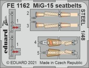 Eduard FE1162 MiG-15 seatbelts STEEL BRONCO / HOBBY 2000 1/48