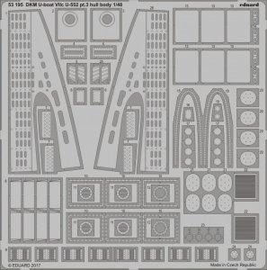 Eduard 53195 DKM U-boat VIIc U-552 pt.3 hull body TRUMPETER 1/48