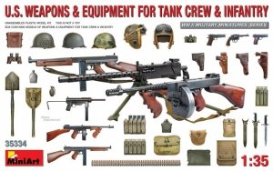 MiniArt 35334 U.S. Weapons & Equipment for Tank Crew & Infantry 1/35