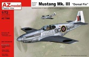 AZmodel AZ7568 Mustang Mk.III Dorsal fin 1/72