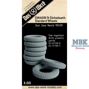Das Werk DWA018 5t Einheitsanh. Standard Wheels 1/35
