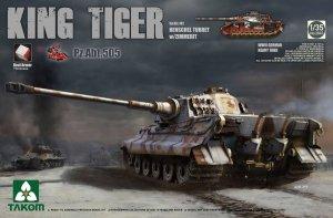 Takom 2047S KING Tiger Pz.ABT.505 Sd.Kfz.182 HENSCHEL TURRET w/ZIMMERIT /full interior w/New Track Parts 1/35