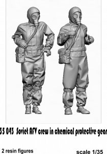 Glowel Miniatures 35043 Soviet AFV crew in chemical protective gear 1/35