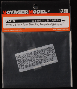 Voyager Model PEA137 WWII US Army Tank Stenciling Templates Type 2 1/35