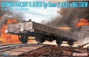 Dragon 6085 German Railway Flatbed Typ Ommr (2 Axle) w/MG Crew 1/35