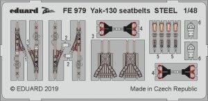 Eduard FE979 Yak-130 seatbelts STEEL 1/48 ZVEZDA