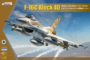 Kinetic K48129 F-16C Block 40 Israeli Air Force F-16C Barak 1/48