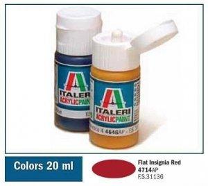 Italeri 4714 FLAT INSIGNIA RED 20ml