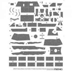 Meng SPS-077 Sd Kfz 171 Panther Ausf A Early Production Zimmerit Decal 1/35