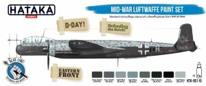Hataka HTK-BS110 Mid-War Luftwaffe Paint Set