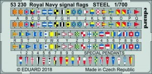 Eduard 53230 Royal Navy signal flags STEEL 1/700