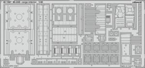Eduard 481067 Mi-24D cargo interior EDUARD 1/48