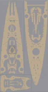 Pontos 35014WD1 DKM Tirpitz Wooden Deck set (1:350)